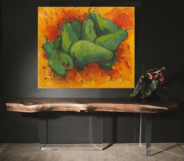 RITA NAKHEL OIL PAINTING ANISE NAKHEL TABLE DESIGN